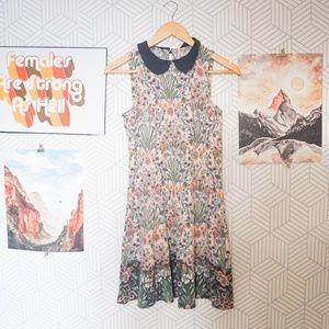 LC Lauren Conrad Floral Peter Pan Collar Dress